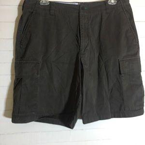 Classic Dark Green Khaki Shorts Tommy Hilfiger Men